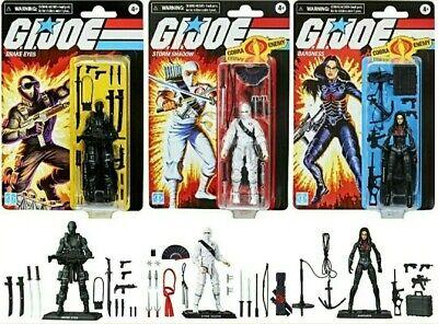 G.I Joe Retro Collection Snake Eyes Baroness Storm Shadow Set