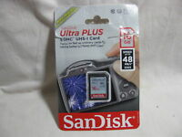 Sandisk Ultra Plus Sdhc Uhs-i Card 16gb Open Package