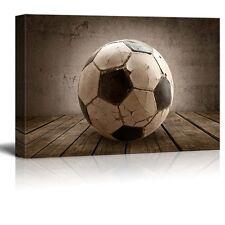 Wall26 - Goal! Soccer Rustic Rectangular Sport Panel - Futbol - Canvas Art-16x24