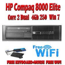 Fast HP Compaq 8000 SFF PC Core 2 DUO 2.90ghz 4gb RAM 250gb computer Windows 7