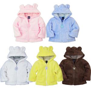 d31a71374491 Kids Baby Boy Girl Hoodies Coral Velvet Coat Thick Jacket Warm ...