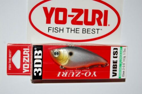 "3 lures yo zuri 3db vibe wave motion sinking 1//2oz 2 5//8/"" r1145-sbl silver black"