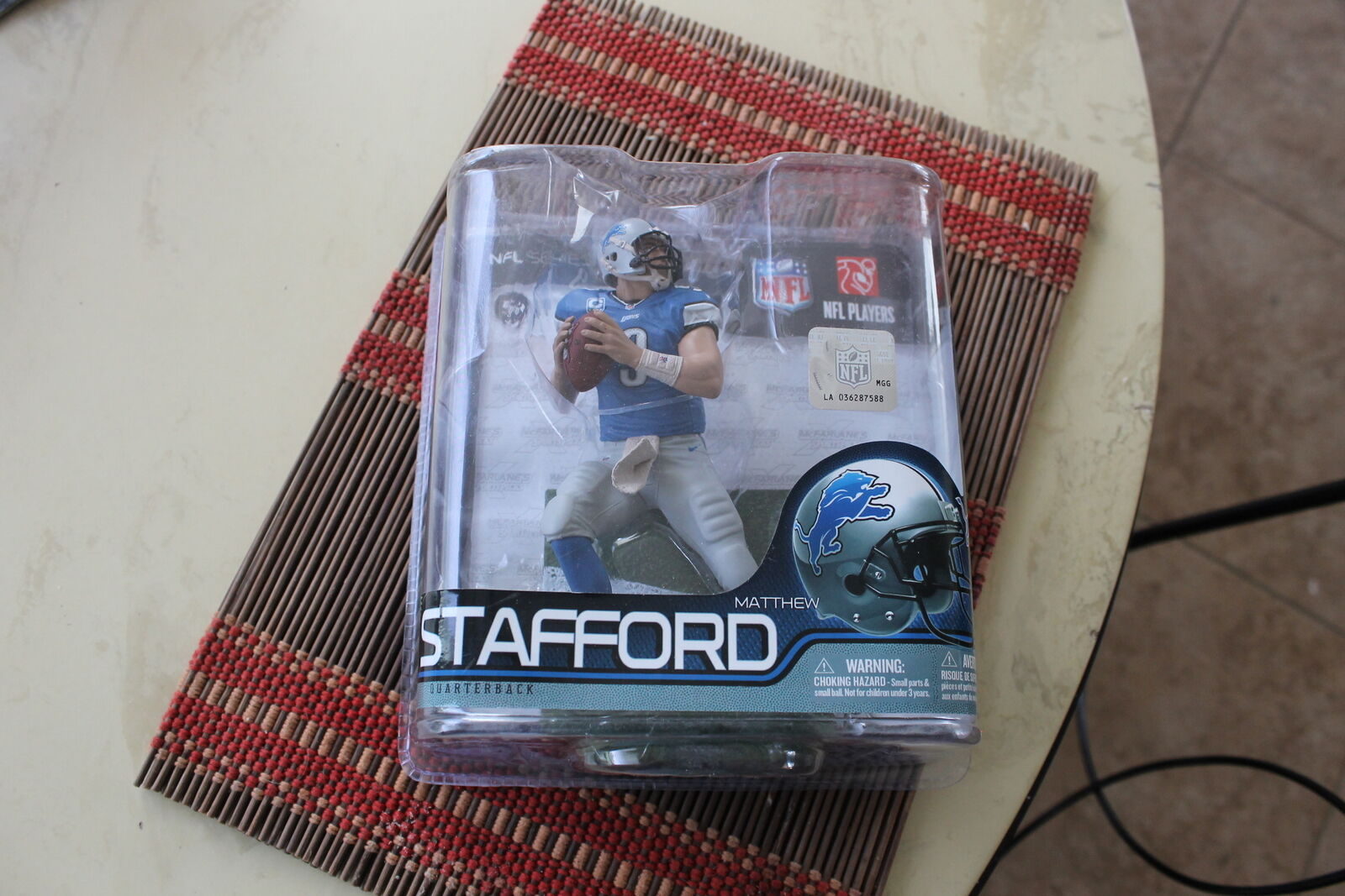 MATT STAFFORD, NFL 29, SHORT PRINTED  EXCLUSIVE  MCFARLANE, DETROIT LIONS