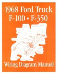 FORD 1968 F100 - F350 Truck Wiring Diagram Manual 68 | eBay