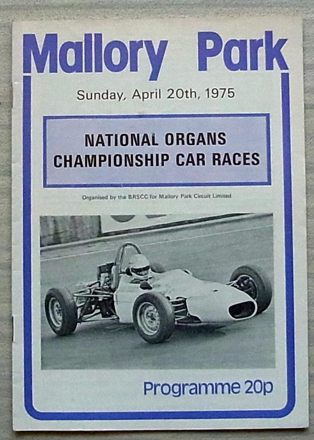 Mallory Park 20 de abril de 1975 carreras de de de campeonato nacional de órganos programa de coche b48881