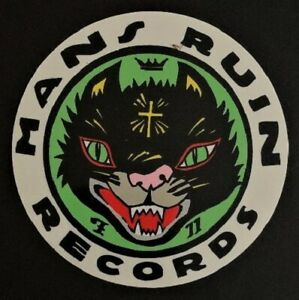 Man-039-s-Ruin-Records-Logo-STICKER-Decal-Poster-Artist-Frank-Kozik-Original