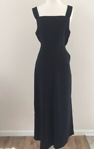 New Madewell Apron Bow Back Jumpsuit True Black Sz 14 Spring 17 Ebay