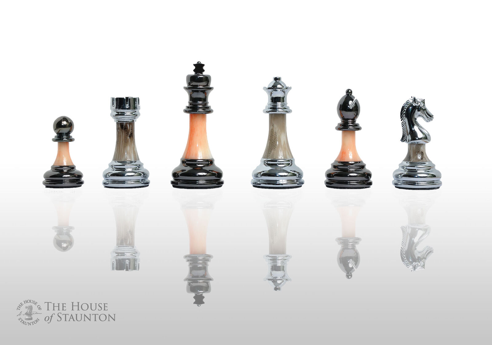 The Contemporary chess series-Pièces seulement - 3.5  King-Argent et Jade