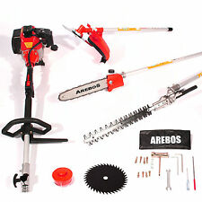 4in1 Garden Multitool Strimmer Trimmer Brush Cutter, Hedge Trimmer Chainsaw 52cc
