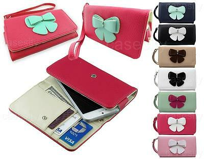 BUTTERFLY PREMIUM PU LEATHER WALLET PHONE CASE W/ LANYARD FOR VARIOUS PHONES