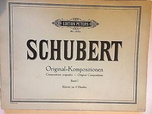 Franz-Schubert-Original-Kompositionen-Band-1-Klavier-zu-4-Haenden