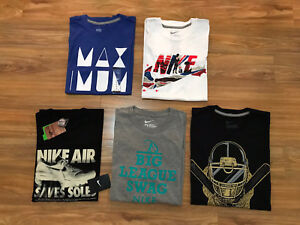 Nike-Men-039-s-Graphic-Logo-T-Shirt-Crew-Athletic-Tee-M-Pick-Color-NEW