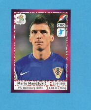 PANINI-EURO 2012-Figurina n.391- MANDZUKIC - CROAZIA -NEW-DARK BOARD