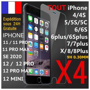 VERRE TREMPE VITRE PROTECTION ECRAN IPHONE 11 12 PRO MAX SE 2020 6 7 8+ XS XR