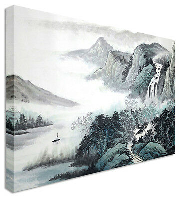 Japanese / Chinese Painting Clean Sailing Canvas Wall Art Print