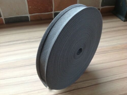"""CHOOSE FROM 27 COLOURS 50M ROLL BEST QUALITY COTTON BIAS BINDING-25 MM//1/"""" WIDE"""