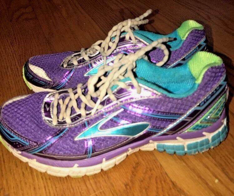 Brooks Athletic 5 Sz Schuhe Zug Yoga Laufen Lila Metallic 15