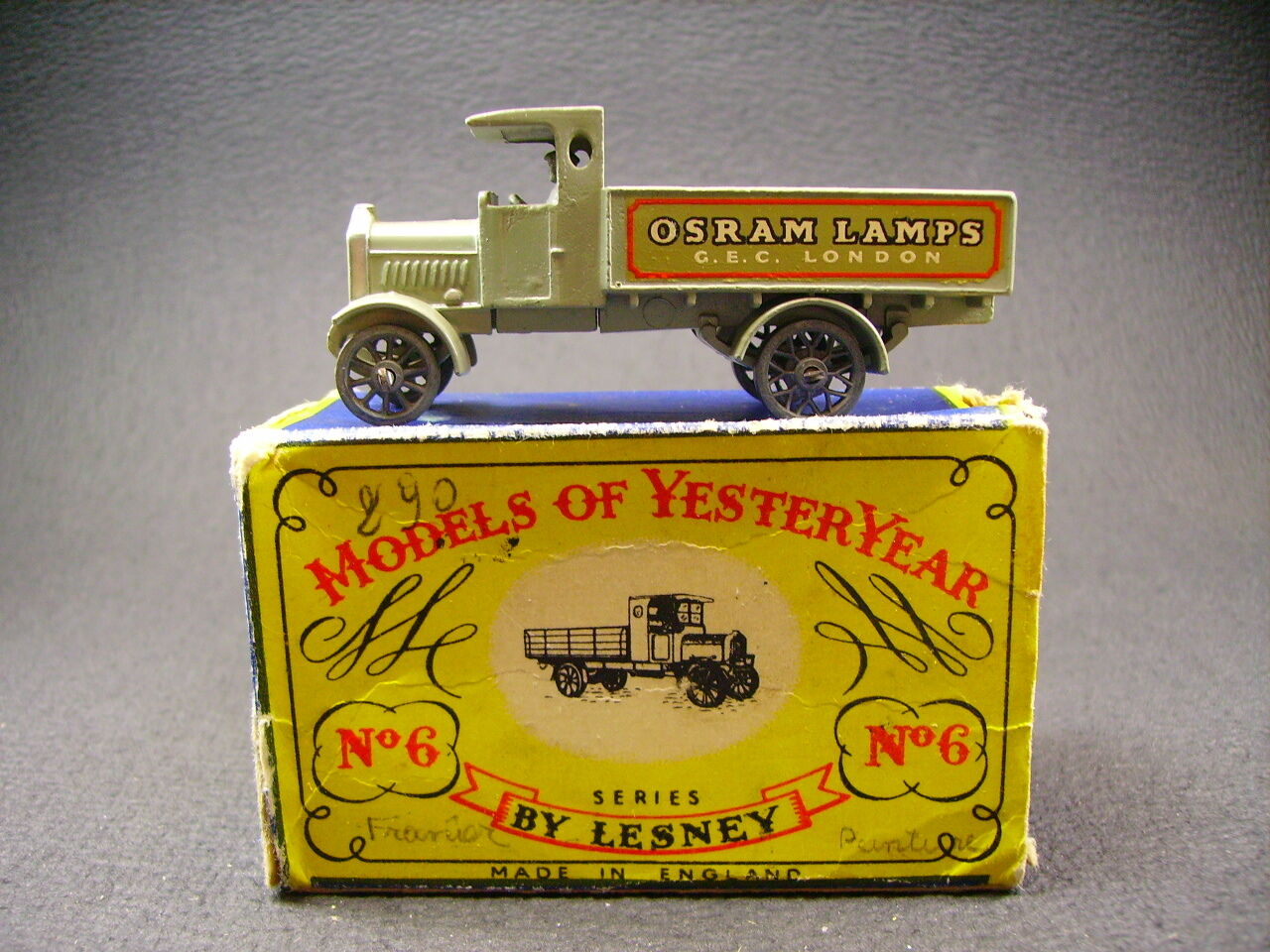 Matchbox Yesteryear Y6 Aec Y Art Lkw (England 1961) + Box