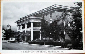 1940s Romney Wv Postcard New Century Hotel West Virginia Ebay