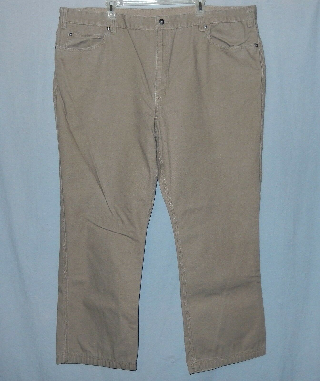 Mens Duluth Trading Company Pants Size 44 X 30 Work Utility Canvas Brown Tag 48