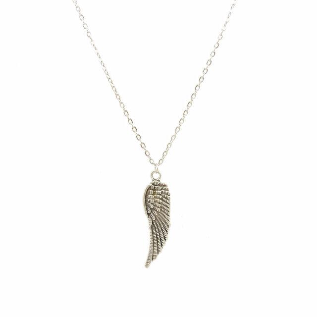2017 Fashion Jewelry Unisex Goth Retro Angel Wings Design Pendant Chain Necklace