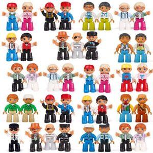 Building blocks Duplos Princess People Pirates Workers compatible doll figure