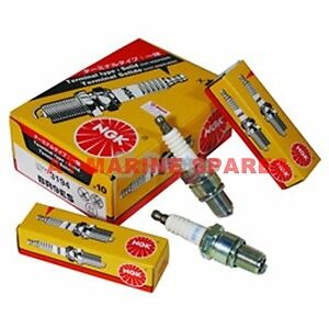Details about A1 2 x NGK Marine Spark Plugs BPR7HS tohatsu 6/8/9 8hp 2  stroke outboard motor