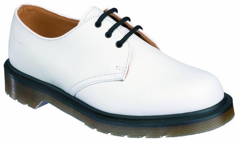 DR Martens 3 fori 1461 PW Made in GB bianca 13762100 ORIGINALE DOC
