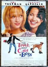 ORIGINAL TRUTH ABOUT CATS AND DOGS ONE SHEET MOVIE POSTER 1996 UMA THURMAN JG