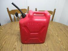 Vintage Blitz Usmc 5 Gallon Plastic Gas Can With Spout Jerry Can Usa