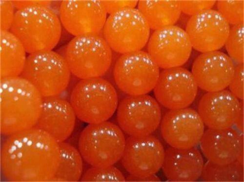 "6//8//10//12mm Rare Orange South America Topaz Round Loose Beads 15/"""
