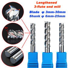 Three Blade End Mills Extended Version Used For Metal Cnc Machining Engraving