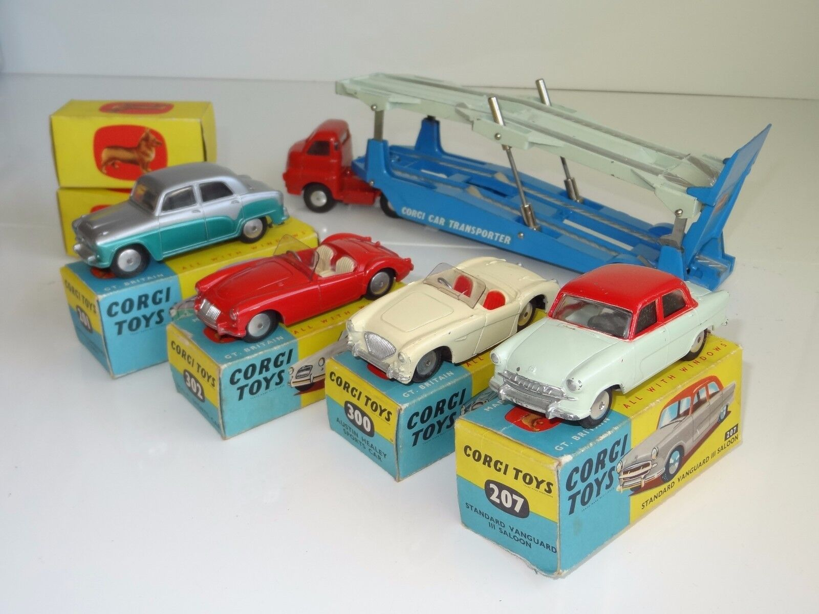 (SH) corgi CARRIMORE CARRIMORE CARRIMORE CAR TRANSPORTER WITH 4 CARS GIFTSET - GS 1 aa68e4