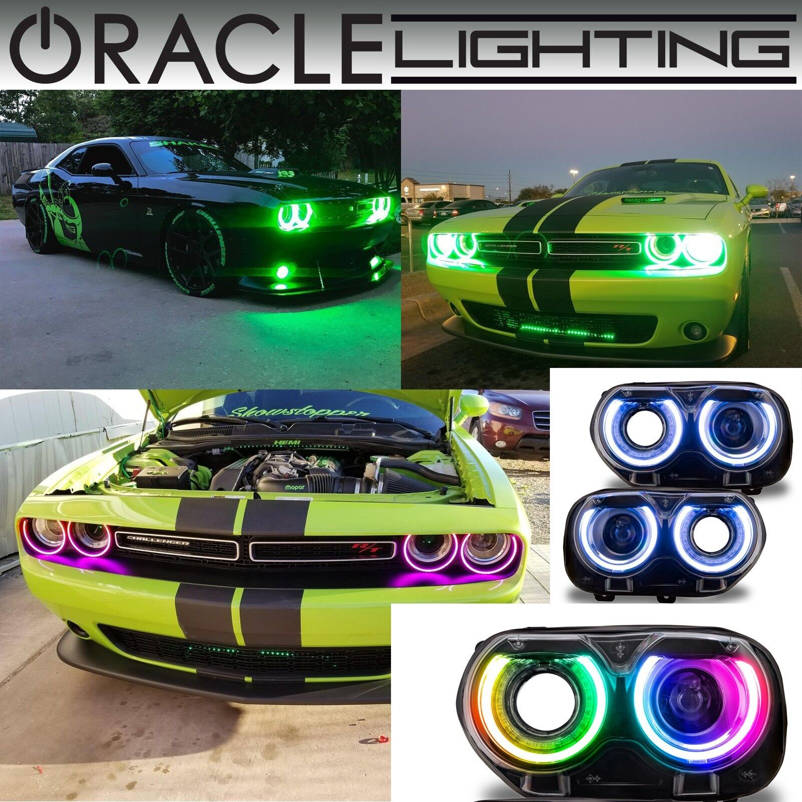 Oracle Surface Mount Halo Kit For Headlights For 15 19