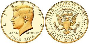 2014-W-50th-Anniversary-Kennedy-Half-Dollar-Gold-Proof-Coin-K15-JFK-24K-US-Mint