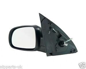 Left Car Door// Wing Mirror Cover Vauxhall Corsa Mk3 2000-2006 NS