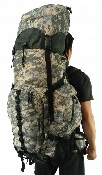 Expeable 130L Deluxe Camo Hire Backpack Sport campeggio Removable Waist Pack