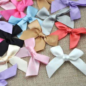 Satin-Ribbon-Flowers-Bows-Gift-Craft-Wedding-Decoration-ornament-50-200pcs-A030