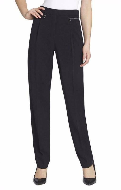 178 NWT BCBG MAXAZRIA BREENA PLEATED-FRONT TROUSER PANTS S