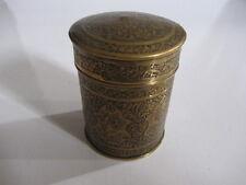 Latón antiguo persa perseguido Floral Caja De Tabaco