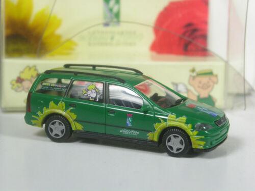 RARO pubblicitari Wiking modello Opel Astra Caravan Lgs Kaiserslautern 2000 IN SCATOLA ORIGINALE