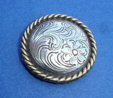 """Western Lodge Cabin Kitchen Decor 1 1/2"""" Silver Engraved Concho Drawer Pulls (6)"""