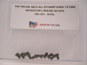 10-Pieces-THFC-024-Insert-Screw-SR34-505-SN-116TX