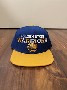 NEW Golden State Warriors Mitchell & Ness NBA Snapback Hat Cap Blue & Yellow