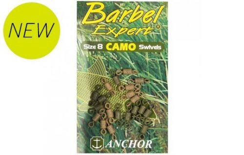 BARBEL EXPERT SIZE 10 CAMO SWIVELS X 20 ANCHOR TACKLE CARP
