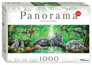 Puzzles 1000 pieces 34*100 cm Panorama Step Puzzle
