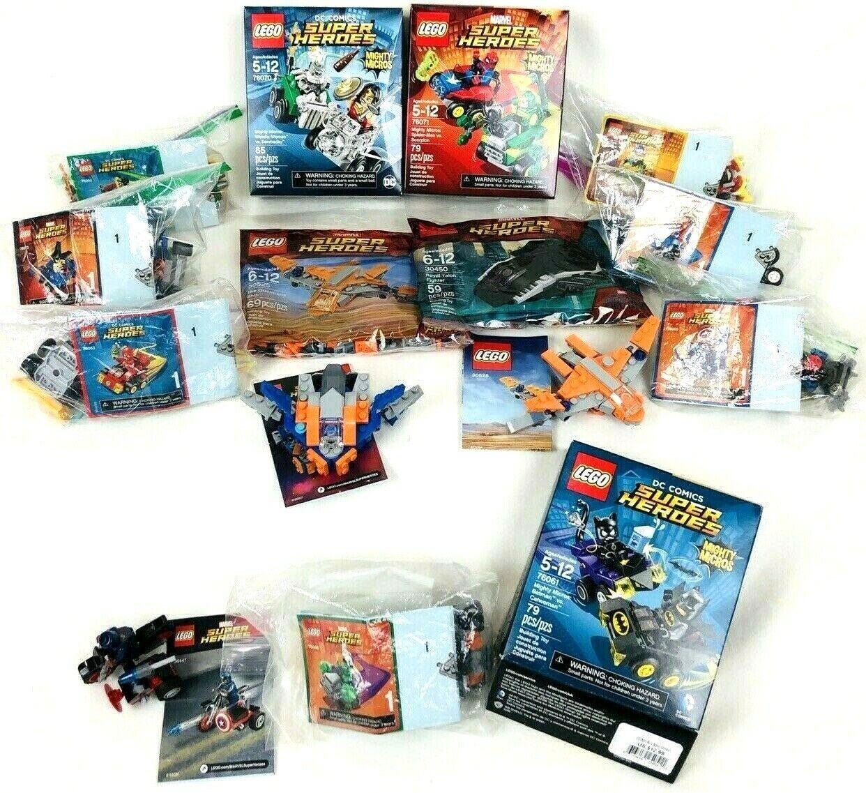 Lego Marvel DC Comics Super Heroes Sets 100% Complete Mighty Micros Lot Mini EUC