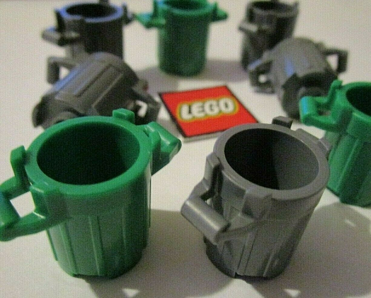 LEGO Dustbin with Lid Holders 92926 Choose Colour NEW Design 28967