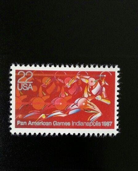 1987 22c Pan American Games, Indianapolis Scott 2247 Mi