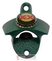 Dark Green Dos Equis Beer Bottle Opener Powder Coated Cast Iron Wall Mounted